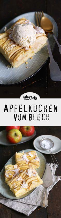 Leckerer Apfelkuchen vom Blech - reicht für die ganze Familie | Bake to the roots