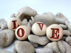 I love.......Sweet Valentine rocks