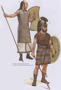 Hittite Soldiers. Art by Angus McBride.