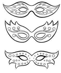 Risultati immagini per mascaras carnaval para colorear Mardi Gras Party, Mardi Gras Masks, Masquerade Party, New Years Party, Art For Kids, Coloring Pages, Art Projects, Crafts, Mardi Gras Mask Template