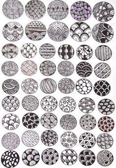 J'aime beaucoup la grande variété de motifs, que je trouve très beaux. Selon l'épaisseur et la disposition des lignes, il y en a des plus pâles et des plus foncés. Ensemble, je trouve que ça fait un bel effet.