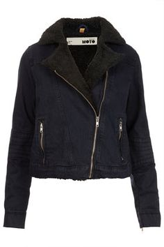 denim biker jacket