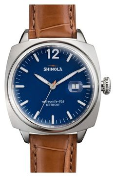 Shinola 'The Brakeman' Alligator Strap Watch, 47mm available at #Nordstrom