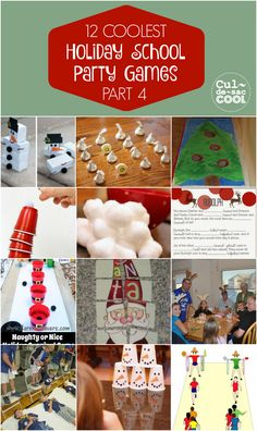 How are you going to keep all those little elves entertained? Don't worry, with these 12 Coolest Holiday School Party Games — Part your preschoolers through graders will all be enterta… Xmas Party Games, Christmas Party Games For Kids, School Christmas Party, Christmas Fun, School Holiday Ideas, Children Christmas Games, Christmas Games For Preschoolers, 2nd Grade Christmas Crafts, Minute To Win It Games Christmas
