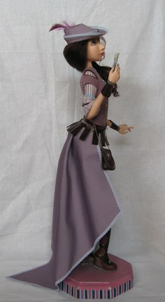 The art doll is called as Lady Genrietta original gift by GladOArt on etsy