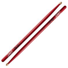 "The Josh Dun Artist Series stick is built to stand up to the aggressive grooves that drive Twenty One Pilots. It features a beefed up 5A shaft with extra length for more reach and effortless velocity. Its medium taper keeps everything in balance and the oval tip creates a surface area ideal for punchy drums and bright cymbals. On this eye catching red stick is a reproduction of Josh's signature and Twenty One Pilots' Skeleton Clique ""Alien Josh"" logo."