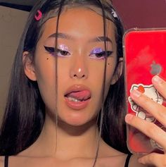 Grunge Aesthetic Makeup & Grunge Aesthetic – Home & Women Makeup Goals, Makeup Inspo, Makeup Art, Makeup Inspiration, Hair Makeup, Makeup Tips, Red Makeup, Makeup Hacks, Body Inspiration