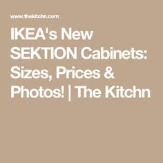 IKEA's New SEKTION Cabinets: Sizes, Prices & Photos!   The Kitchn Ikea Kitchen Installation, Big Kitchen, Kitchen Ideas, Ikea New, Beautiful Places To Live, Kitchen Cabinets, Kitchen Islands, Beach House, Photos