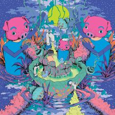 Bang Sang Ho is a South Korean illustrator & graphic designer who presents us a very colorful journey among the distant stars at a state of psychedelic mind fuzz. Art And Illustration, Illustrations Posters, Arte Inspo, Kunst Inspo, Trippy Pictures, Psychadelic Art, Zen, Art Themes, Behance