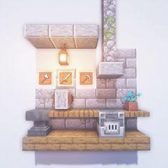 Kugio Builds in MinecraftさんはInstagramを利用しています:「Blacksmith! Only 100 more requests to do 😂 Minecraft designs Minecraft kitchen ideas Minecraft interior design