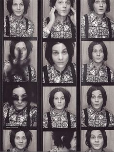 A much much better look at the photobooth picks from the German Rolling Stone's article about Jack. Every time he fusses with his hair on camera I die a little bit. Meg White, Jack White, Roxy Music, The White Stripes, Shades Of White, 50 Shades, Jim Morrison, Fleetwood Mac, Stevie Nicks