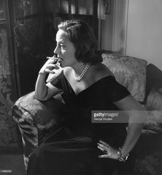 The gravel voiced American theatrical leading lady of stage and screen Tallulah Bankhead ( 1902 - 1968 ) in London at the Ritz to work on a new radio show . Picture Post - 5412 - Tallulah Is Back - pub. 1951