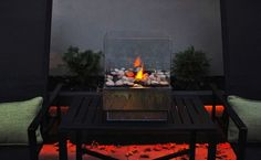 DIY Fire Pit from Glass-I doubt I could handle this DIY!!! But still cool!
