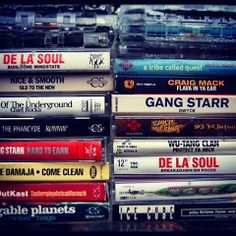 Vintage tapes from the 80's and 90's..