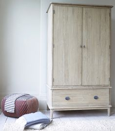Loaf's Scandi style Legende wardrobe with grooved doors and drawers