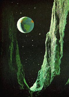 moon scape illustration 1963