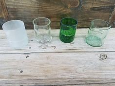 Liquor Bottle Cup Gift Set. Whiskey Glasses. by ErbRecycledDesigns