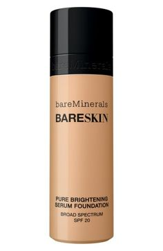 Free shipping and returns on bareMinerals® bareSkin® Pure Brightening Serum Foundation Broad Spectrum SPF 20 at Nordstrom.com. What it is: bareMinerals bareSkin Pure Brightening Serum Foundation Broad Spectrum SPF 20 is a breakthrough fluid foundation that's a skincare serum and foundation in one, correcting tone while providing your skin with the benefits of a serum so your complexion becomes as healthy as it appears.What it does: The lightweight, long-wearing formula features a powerful...