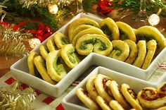 Three Palmiers (Sun-Dried Tomatoes and Garlic; Pesto; Almond-Cinnamon) | recipes from Kitchen Window