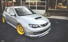 Download Wallpapers Subaru Impreza WRX STI, Tuning, Stance, JDM, Supercars,  Yellow