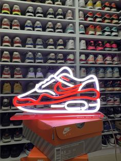 HYPE Neon Sign. Blur Background Photography, Blurred Background, Neon Led, Led Neon Signs, Air Max 1, Hypebeast Brands, Clear Acrylic, Sneakers