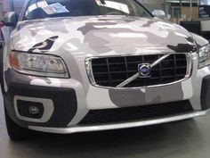 Winter camouflage wrap Volvo XC70