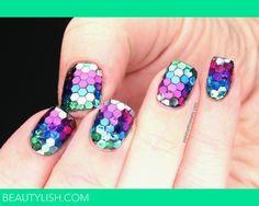 Rainbow Fish  | Laura T.'s #nail #nails #nailsart