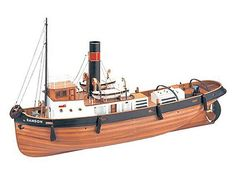 The Artesania Latina Sanson is a wooden boat model that accurately recreates the real life tugboat down to the finest detail. Wooden Ship Model Kits, Model Ship Kits, Model Ships, Buy A Boat, Make A Boat, Build Your Own Boat, Wooden Boat Building, Cabin Cruiser, Plywood Boat