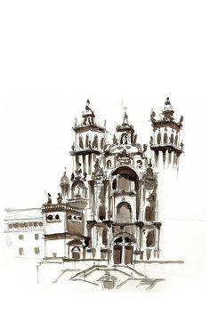 cathedral, Santiago de Compostela, Spain