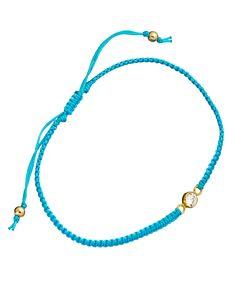 Meredith Hahn Aquamarine Turquoise Lani Macrame Bracelet