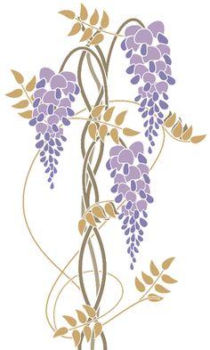 Art nouveau wisteria by rainbowpixels at zippi.co.uk