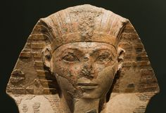 """Hatshepsut was the first female pharaoh of Egypt. She reigned between 1473 and 1458 B. Her name means """"foremost of noblewomen. Ancient Egyptian Costume, Egyptian Kings, Luxor, Cleopatra, Ancient Egypt Pharaohs, Ancient Civilizations, Landsknecht, Valley Of The Kings, Ancient Beauty"""