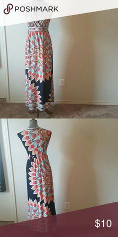 Olivia Matthews Maxim Dress Multi-colored long maxi dress. Barley worn. Olivia Matthews Dresses
