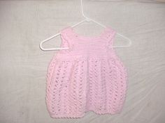 handmade Pink crocheted baby dress girls shower gift by CanadianCraftCritter