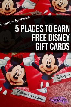 Did you know you can earn FREE Disney Vacation Gift Cards with these great…