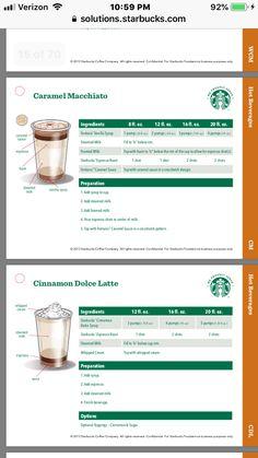 Coffee Drink Recipes, Starbucks Recipes, Starbucks Drinks, Starbucks Coffee, Coffee Drinks, Coffee Barista, Coffee Menu, Coffee Type, Coffee Shop