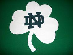 DJB Notre Dame Fighting Irish Green Tshirt XL Tee Shirt Champs Clover #Champs #GraphicTee
