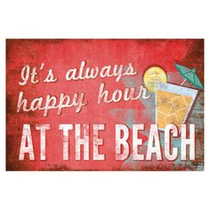 Happy Hour at the Beach - Wall Art.