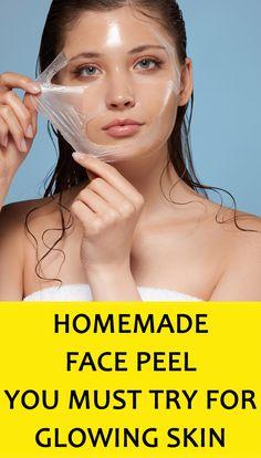 Homemade Peel Off Mask, Diy Peel Off Mask, Face Mask Peel Off, Homemade Facial Mask, Face Peel At Home, At Home Face Mask, Chemical Face Peel, Glowing Skin, Facial Peels