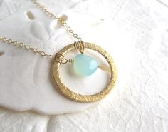 Sea Foam Chalcedony Necklace by Yameyu, $28.50 https://www.etsy.com/listing/130925487/chalcedony-necklace-gold-vermeil-ring?ref=shop_home_active