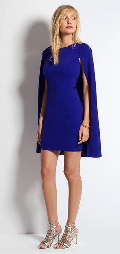 Short Cape Homecoming Dress #camillelavie
