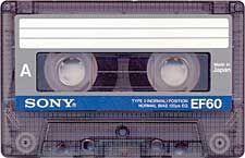 Cassette Tape SONY EF60