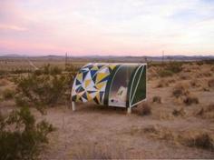 Andrea Zittel, Lay of My Land. Sculptural installation, Mojave desert.