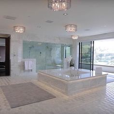 This newly built modern mega mansion is located at 10979 Chalon Road in the Bel Air neighborhood of Los Angeles, CA. This newly built modern mega mansion is located at 10979 Chalon Road in the Bel Air neighborhood of Los Angeles, CA. Dream House Interior, Luxury Homes Dream Houses, Dream Home Design, Modern House Design, My Dream Home, Home Interior Design, Modern Houses, Modern Mansion Interior, Beautiful Houses Interior