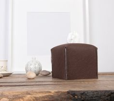 Wenge tissue box cover brown home decor housewarming gift by POPEQ
