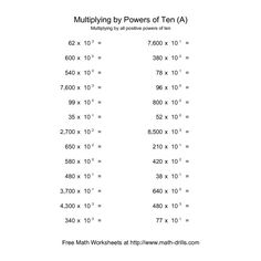 Multiplying By Powers Of 10 Worksheets - Thimothy Worksheet