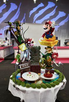 Blown Sugar Art, Cupcakes Super Mario, Pinterest Recipes, Pinterest Food, Chocolate Showpiece, Chocolate Work, Sugar Bread, Food Sculpture, Isomalt