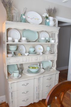 China Cabinet + Shelf Arrangement // lovesweetpress