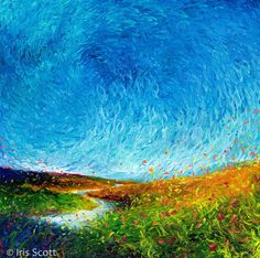iris scott finger painting | Painting created with fingers as brush by Iris Scott