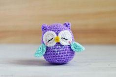 Mr Murasaki Owl Amigurumi Pattern (FREE) - http://pinterest.com/Amigurumipins